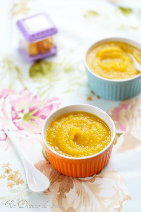 Compote pomme mangue (recette pour bébés) et des conseils pratiques