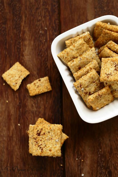 Crackers (biscuits salés) au sésame et à la bière