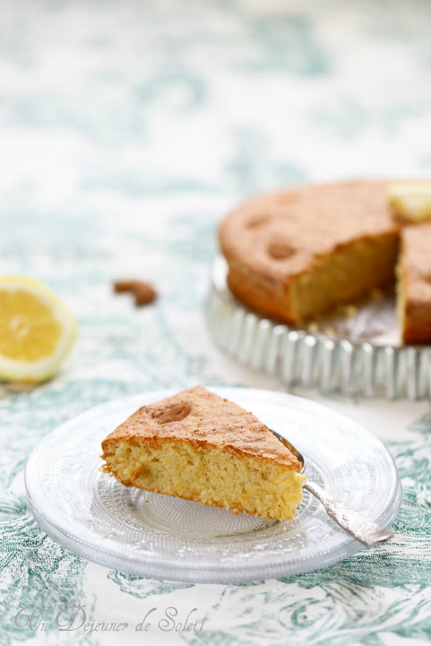 Gâteau italien aux amandes et au citron (sans beurre et sans gluten) de la Sardaigne