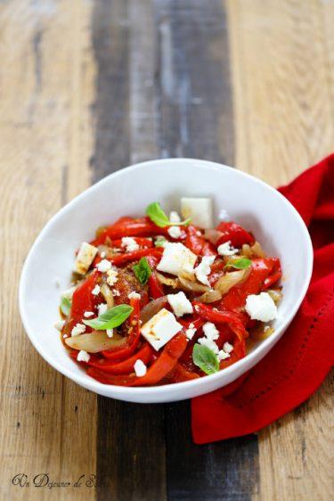 salade poivrons rotis feta