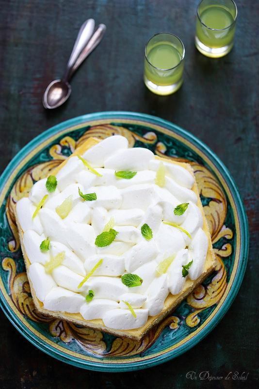Cheesecake citron et limoncello inspiré de Michalak