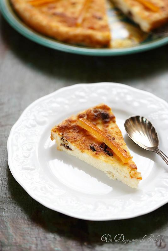 Gâteau sicilien à la ricotta, chocolat et orange
