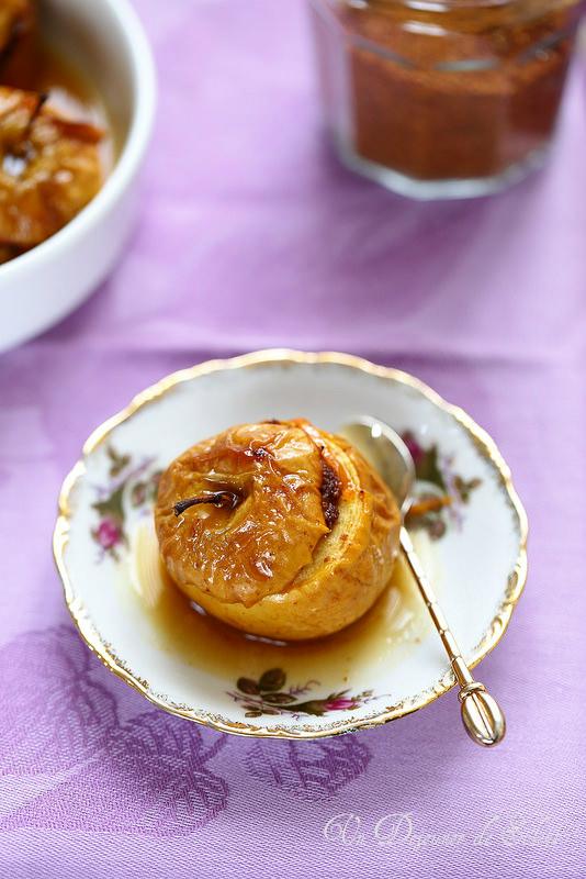 Pommes au four au pain d'épices et à l'orange