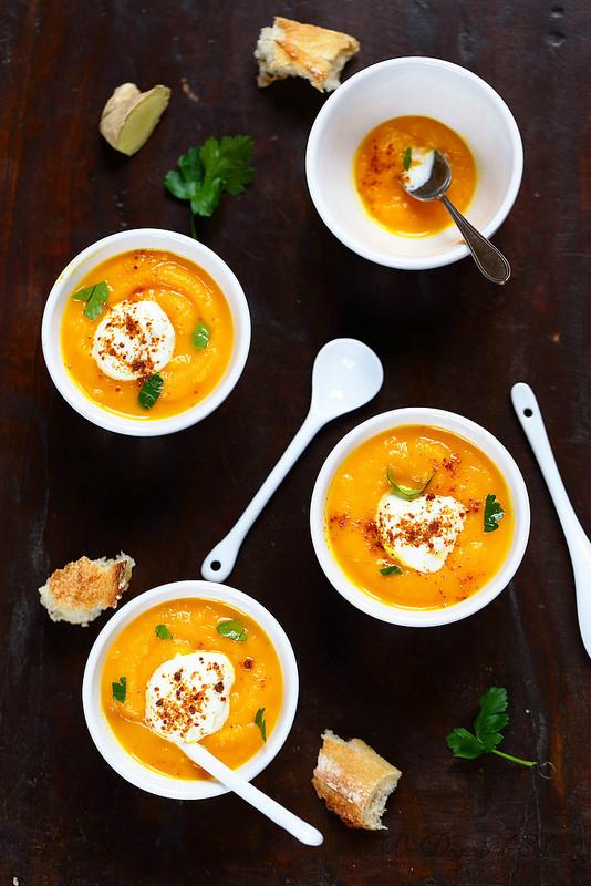 soupe de carottes au gingembre un d jeuner de soleil. Black Bedroom Furniture Sets. Home Design Ideas