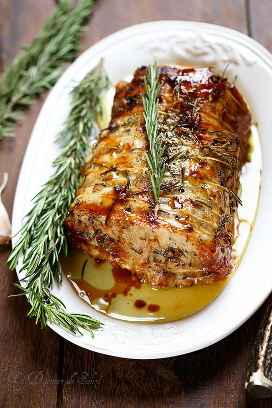 Rôti de porc comme en Toscane (ail, romarin et huile d'olive)