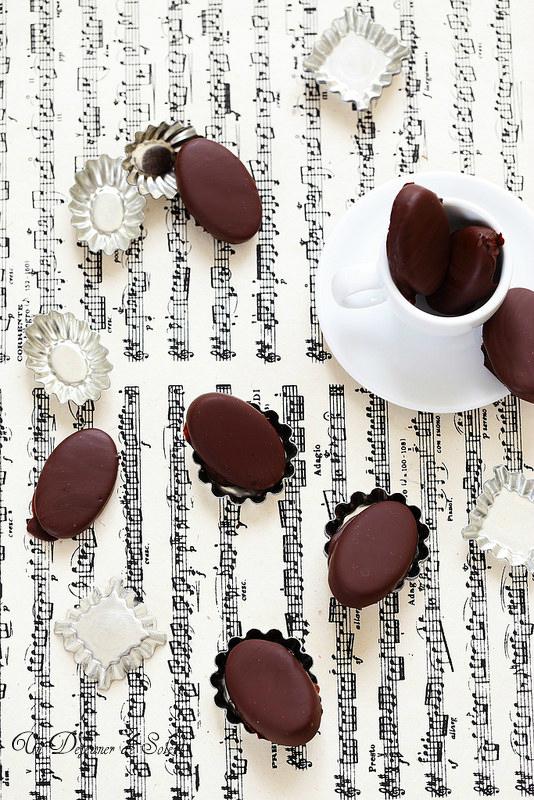 Chocolats maison à la ganache au café