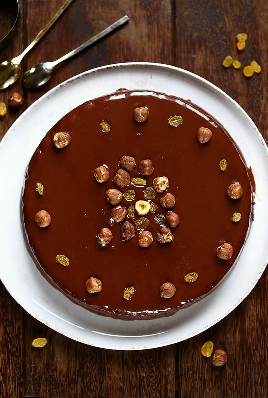 Gâteau au chocolat et au mascarpone avec glaçage
