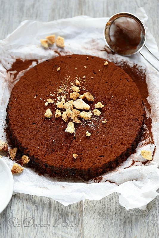 Gâteau de pain au cacao et aux amaretti