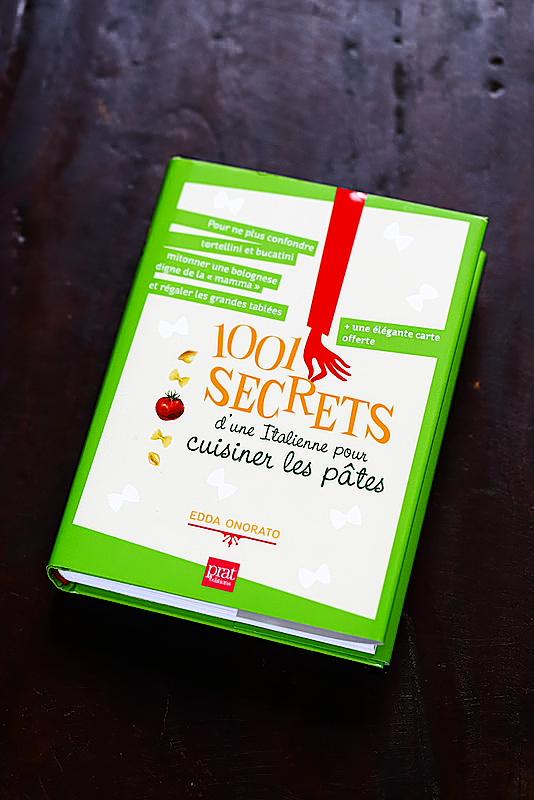 1001 secrets d'une italienne pour cuisiner les pâtes livre Edda Onorato