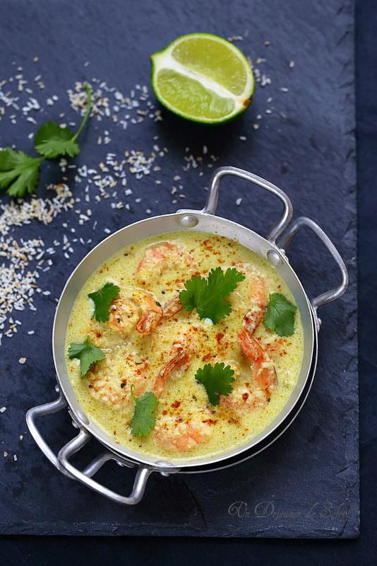 Curry de gambas à la noix de coco