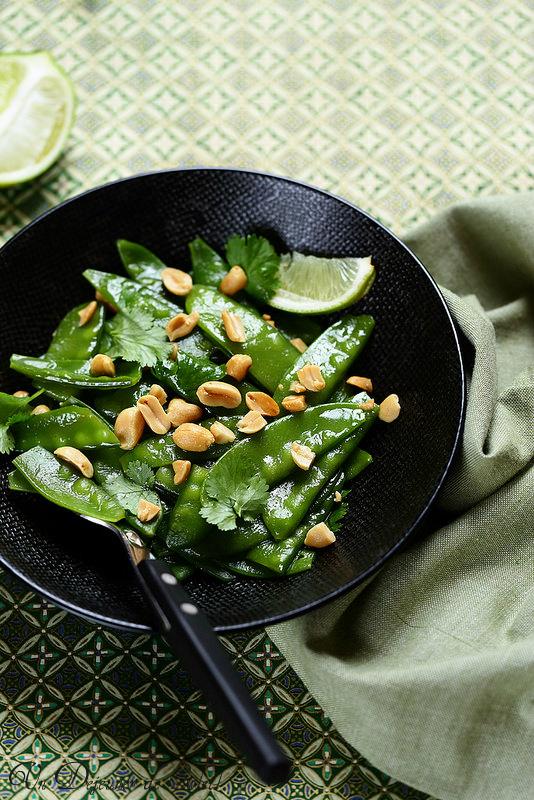 Salade de pois gourmands à la thaïlandaise