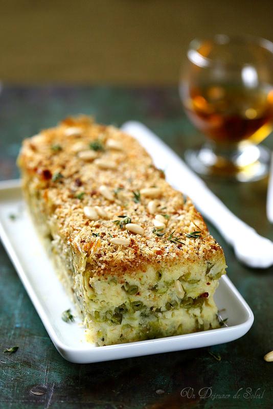 Gâteau de pommes de terre et haricots verts comme en Ligurie (végétarien)
