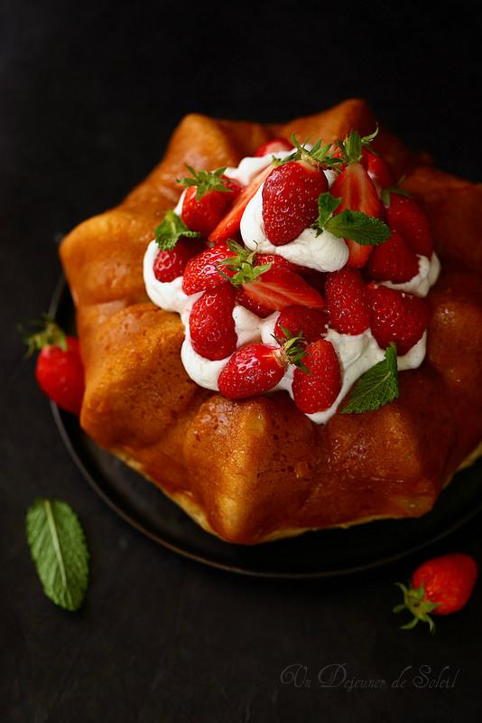 Baba au limoncello et aux fraises