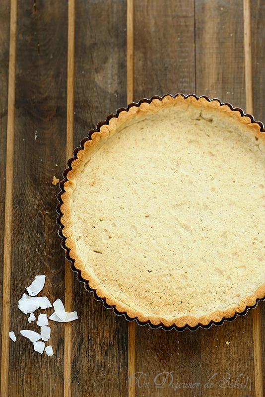 Pâte à tarte à l'huile de noix de coco