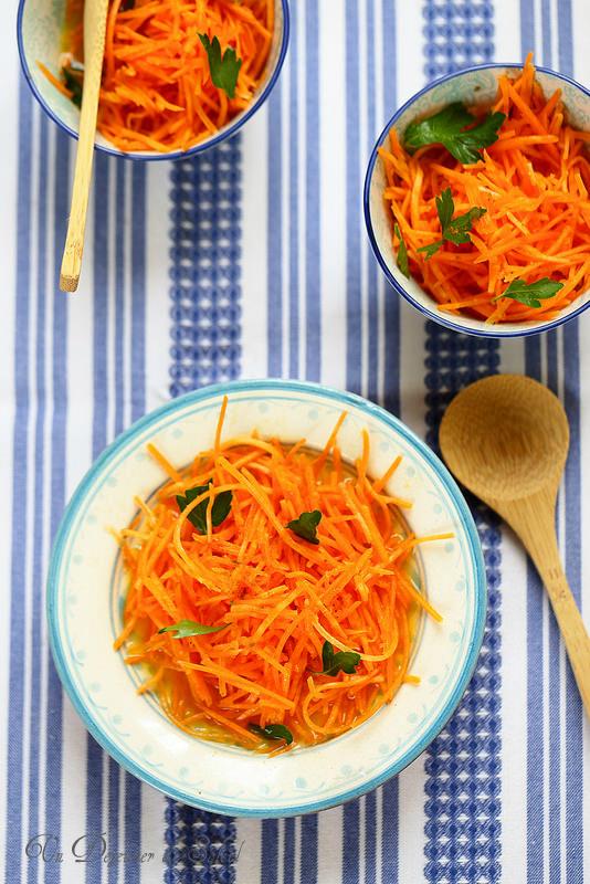 Salade de carottes et orange à la marocaine