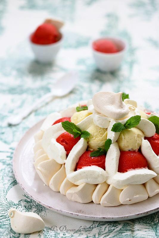 Vacherin fraise vanille