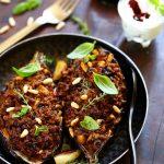 aubergines farcies viande mediterraneenne