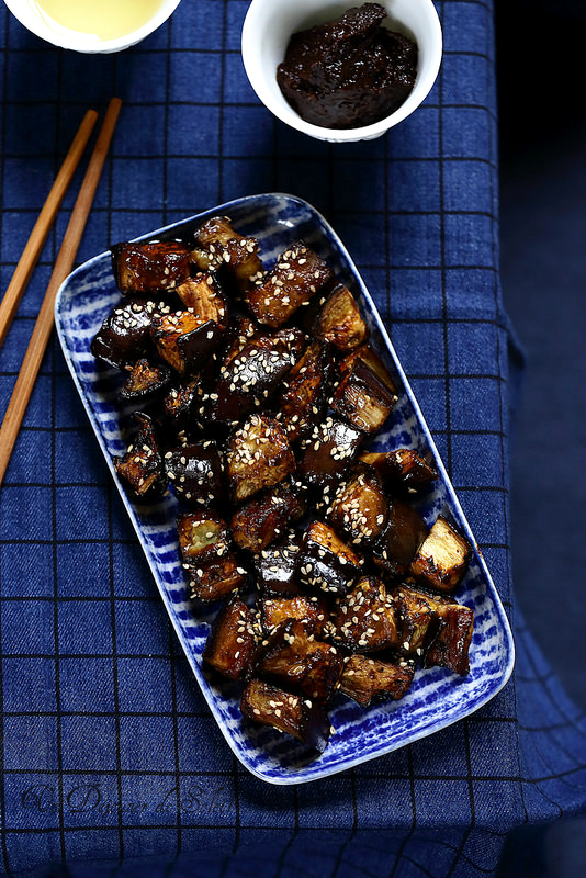 Aubergines rôties à la japonaise