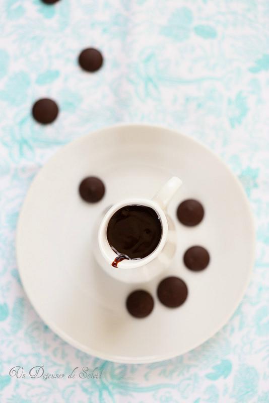 Sauce au chocolat à l'eau (pour glaces, gâteaux...) minute et sans laitages