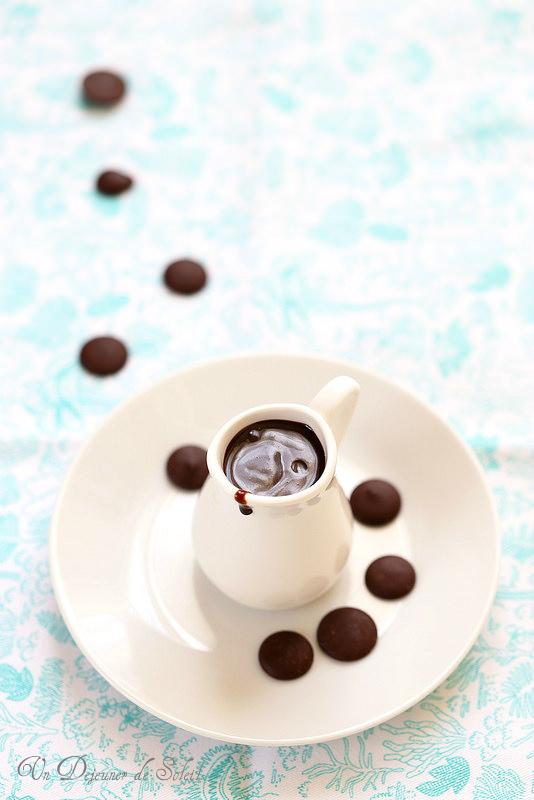 Sauce au chocolat à l'eau (pour glaces, gâteaux...)