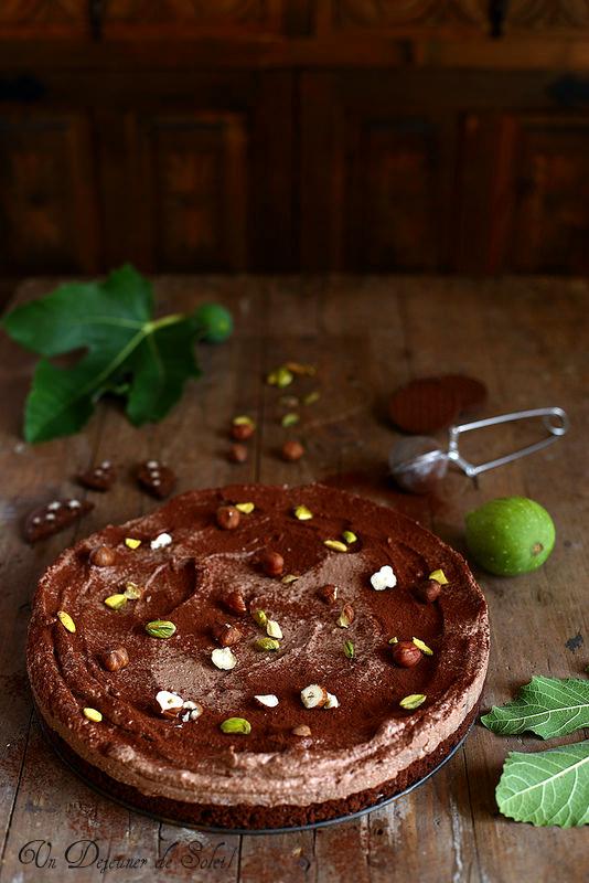 Cheesecake sans cuisson ricotta et chocolat