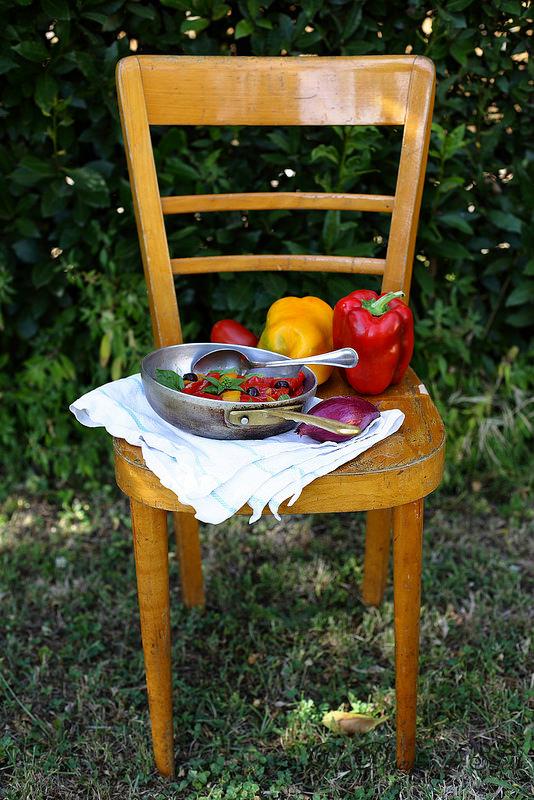 Peperonata, la poivronade italienne (ratatouille de poivrons)