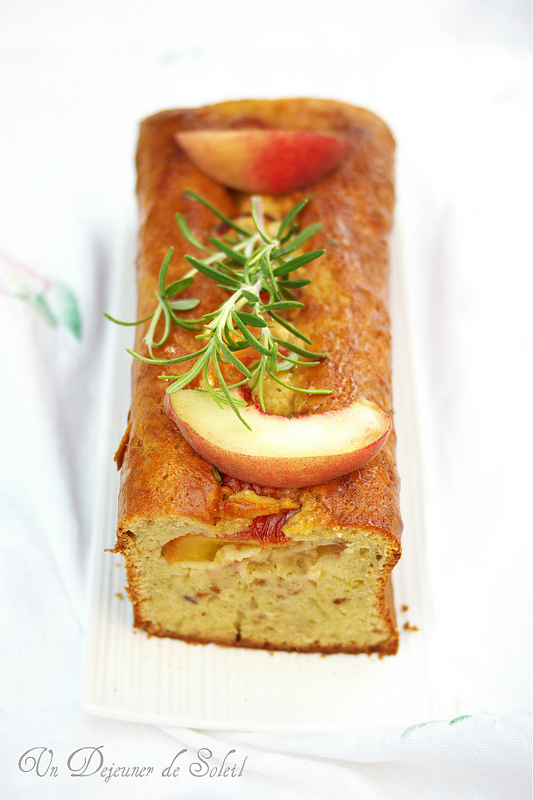 Trente recettes avec les pêches (cake pêches mascarpone)