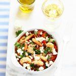 crevettes saganaki tomate feta recette grecque