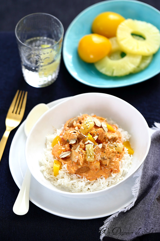 Curry de saumon aux fruits