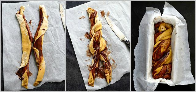Babka au chocolat ou Krantz (brioche marbrée) photos pas à pas