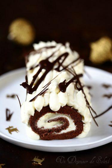 Buche roulee chocolat noir et blanc recette facile