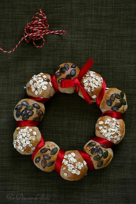 Couronne de pain de Noël
