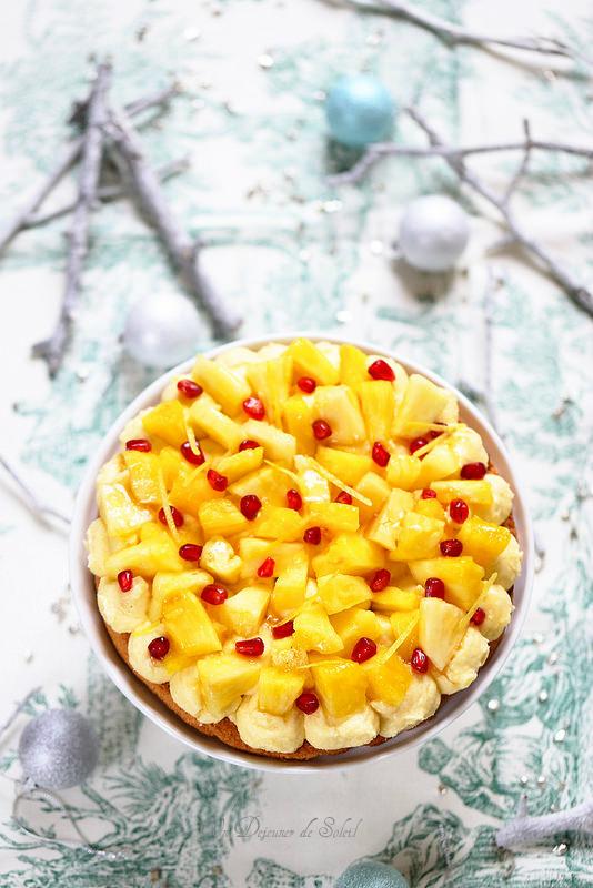 Entremets coco ananas inspiré de Pierre Hermé (sans gluten)