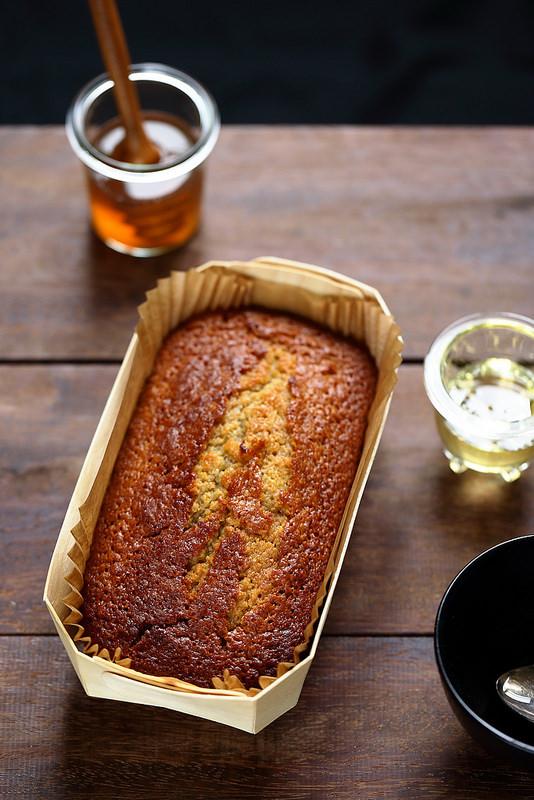 Cake ou gâteau moelleux au miel (sans laitages)