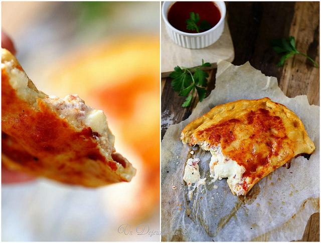 Calzone napolitain : ricotta, mozzarella et jambon