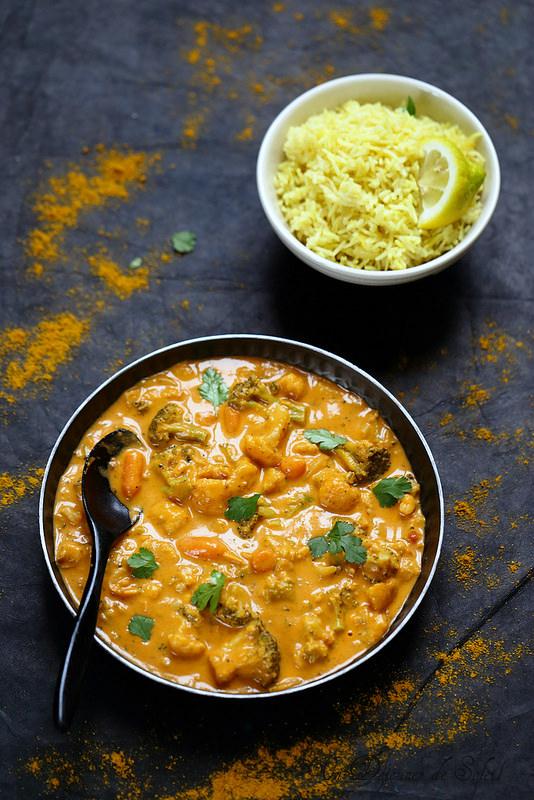Curry végétarien de légumes