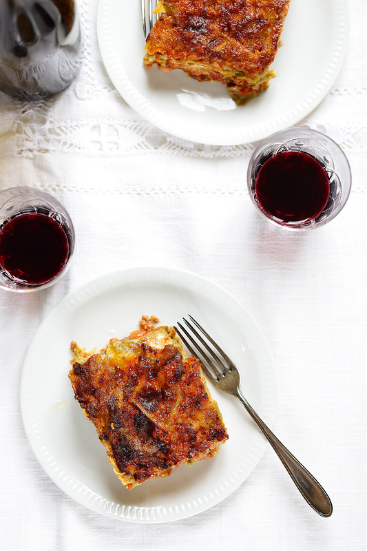 Recettes de l'Émilie-Romagne. Lasagnes à la bolognaise