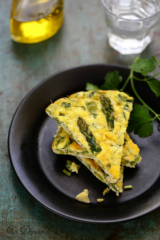 Omelette (frittata) aux asperges
