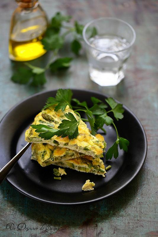 Omelette aux asperges (au four)