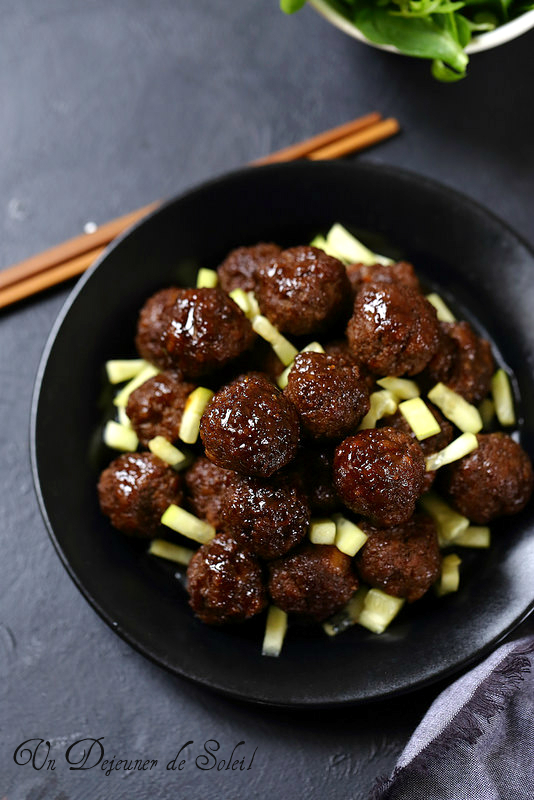 Boulettes de viande à l'asiatique (cuites au four)