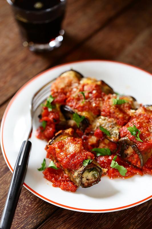 Recettes des Pouilles. Parmigiana d'aubergines