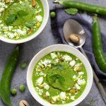 soupe veloute petits pois feta