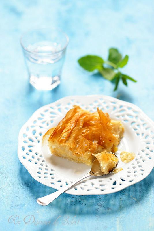Galaktoboureka : gâteau grec à la pâte phyllo et crème pâtissière
