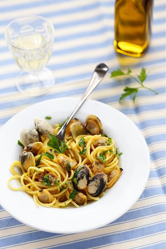 Recettes de Sardaigne. Spaghetti vongole