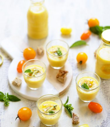 gaspacho tomates jaunes recette facile