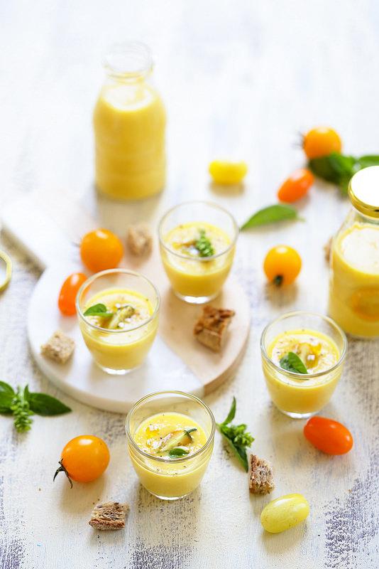 Gaspacho de tomates jaunes