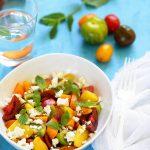 salade tomates peches feta