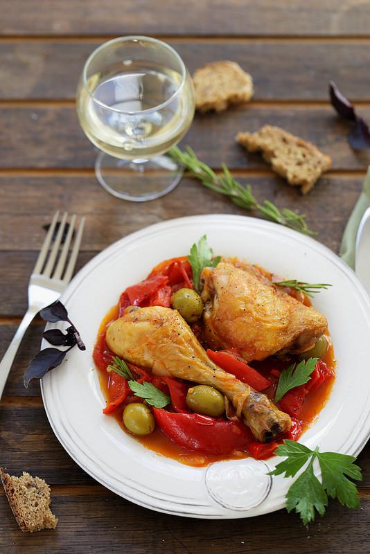 Poulet aux poivrons à la romaine - Un déjeuner de soleil