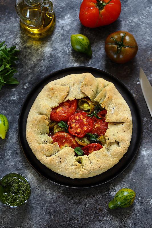 Tarte aux tomates et pesto