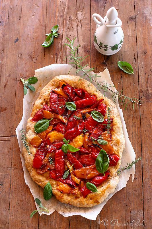 Quarante recettes avec le poivron. Pizza aux poivrons